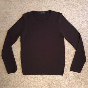 Men's zara man brown sweater medium brown